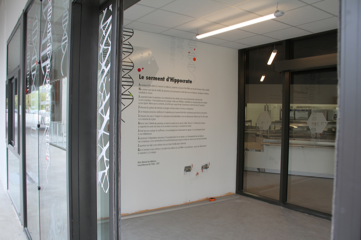 Décoration Murale Contemporaine >Crous Restaurant Bordeaux > Université Vitrophanie