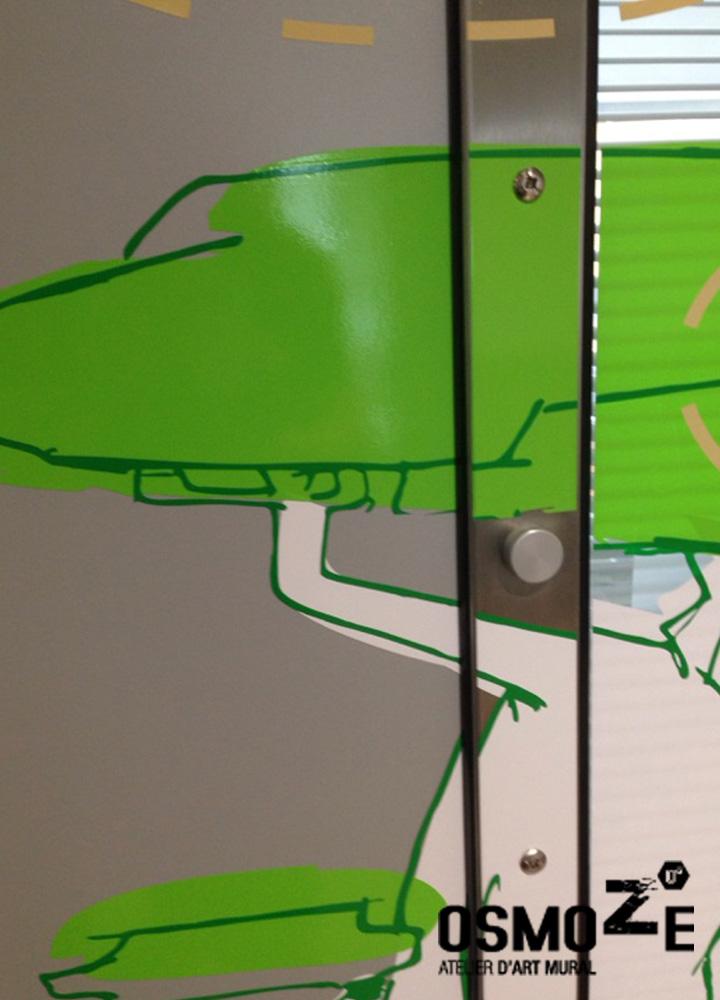 Décoration Murale Hôpital > Pédiatrie Covering Vinyle > CHU > Enfant et Animaux connectés