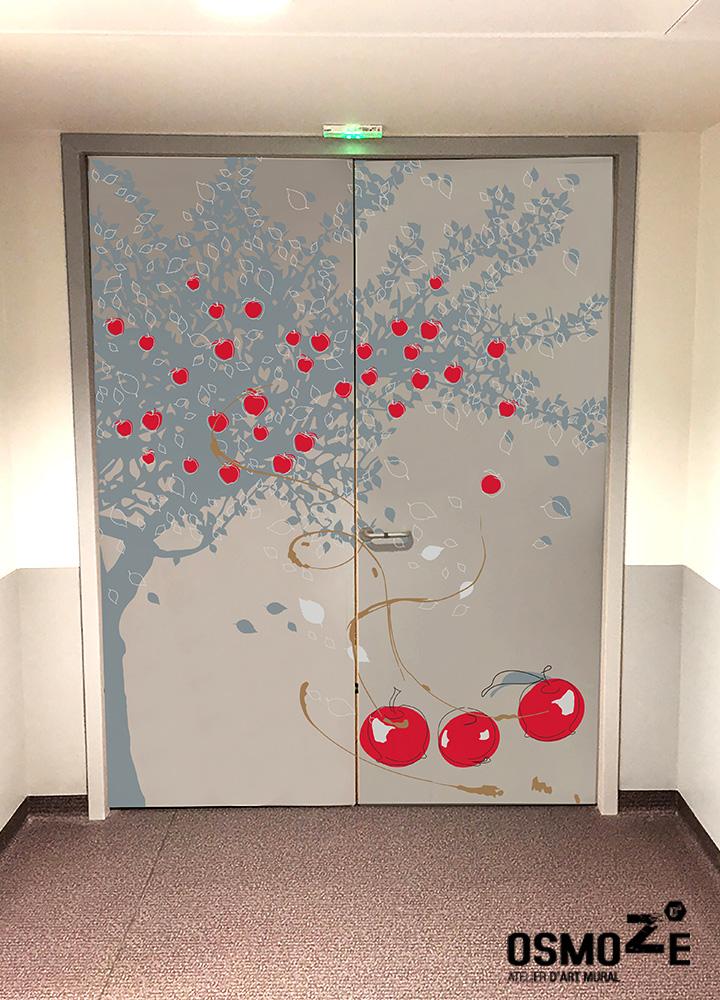 Décoration Murale Hôpital > Maternité 2 Porte > CHU NORD EST