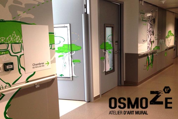 Décoration Murale Hôpital > Pédiatrie Porte > CHU > Enfant et Animaux connectés