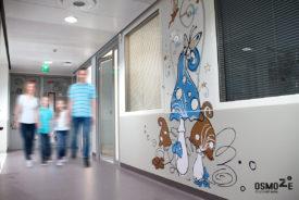 Décoration Murale et Signalétique : service Pédiatrie du CHU de BELFORT MONTBELIARD