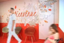 Décoration murale et signalétique : CH Belvédère à Rouen