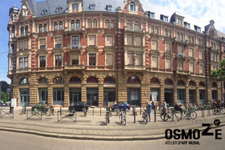 Décoration murale historique et design > CROUS Strasbourg > Résidence Universitaire > Bâtiment