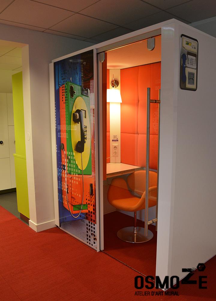 Décoration murale et signalétique artistique > Signalétique décorative > Décoration murale > Phone Box et Bubble > Nokia Alcatel Paris