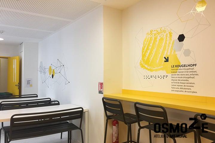 Décoration murale gastronomique et design > CROUS Strasbourg > Cuisine Office