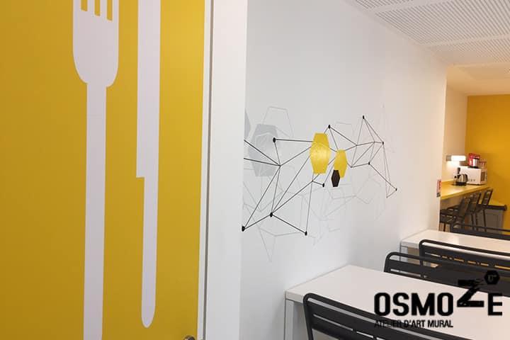 Signalétique murale gastronomique et design > CROUS Strasbourg > Cuisine Office