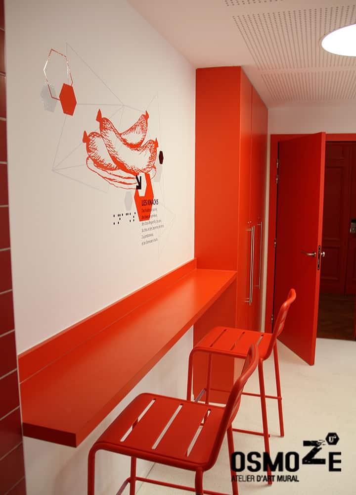 Décoration murale gourmande et design > CROUS Strasbourg > Cuisine