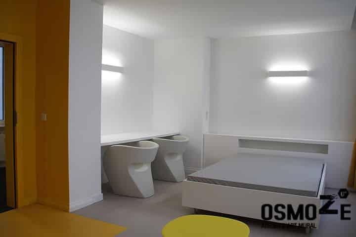 Décoration murale historique et design > CROUS Strasbourg > Résidence Universitaire > Chambre