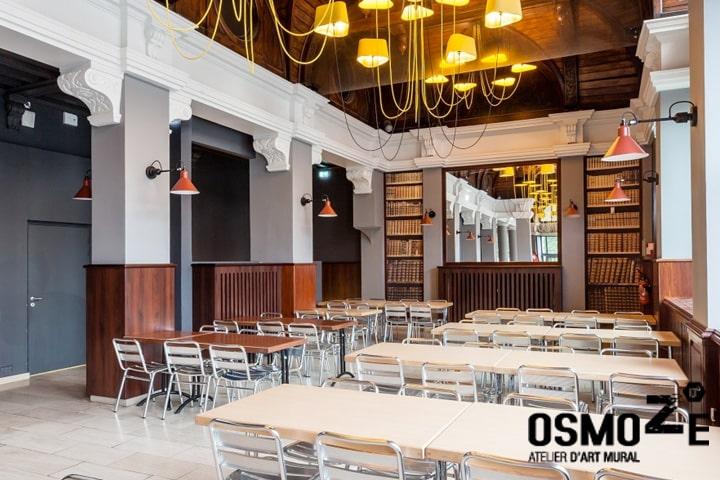 Décoration murale gourmande et design > CROUS Strasbourg > Gallia Restaurant Universitaire