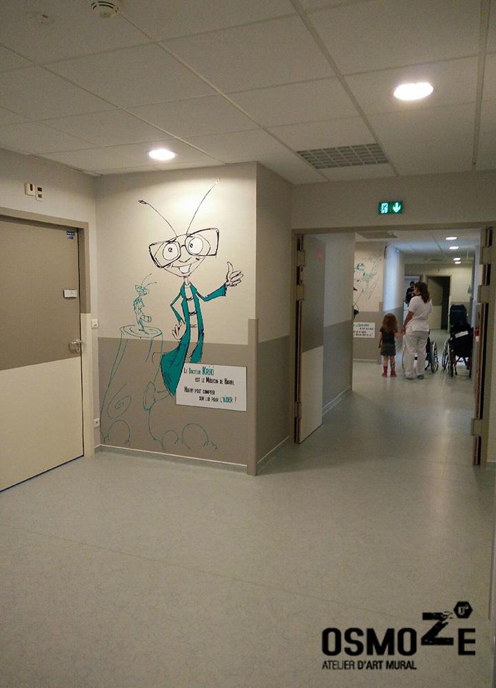 Décor bande dessinée > Super Heros > Centre Paul Dottin > Hôpital enfants > Toulouse > Rééducation.