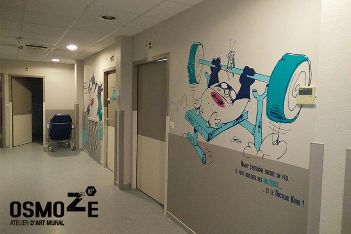 Décor bande dessinée > Super Heros > Centre Paul Dottin > Hôpital enfants > Toulouse > Sport.