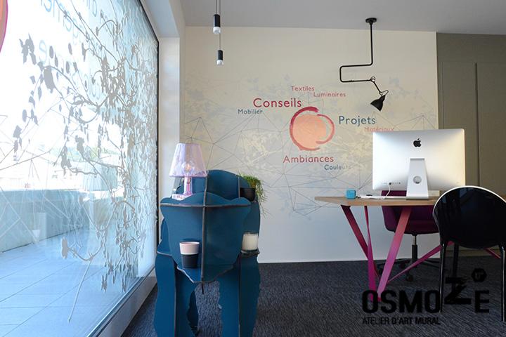 Décoration murale > Aménagement bureaux > Vitrine Agence Luxembourg
