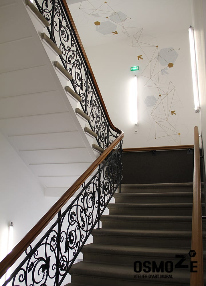 Décoration murale > Cage escalier > CROUS Strasbourg > Résidence étudiance