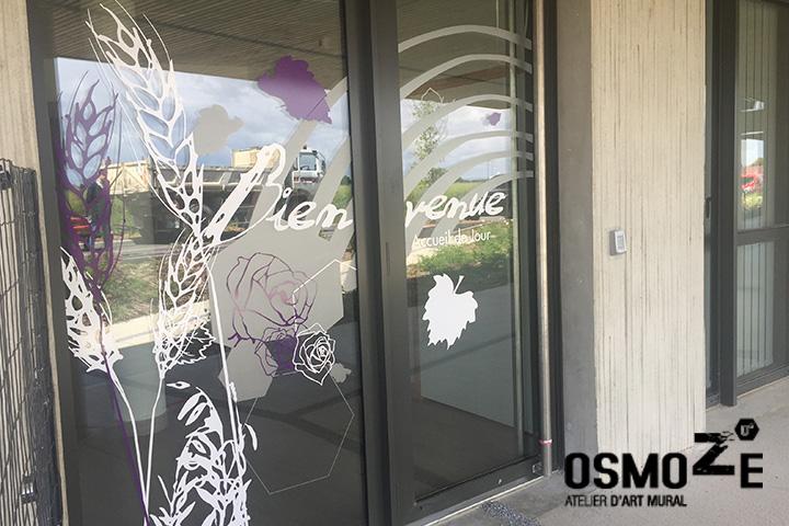 Décoration et Signalétique Murale Contemporaine > Végétale > Ehpad Nicole Limoge > Entrée Sas