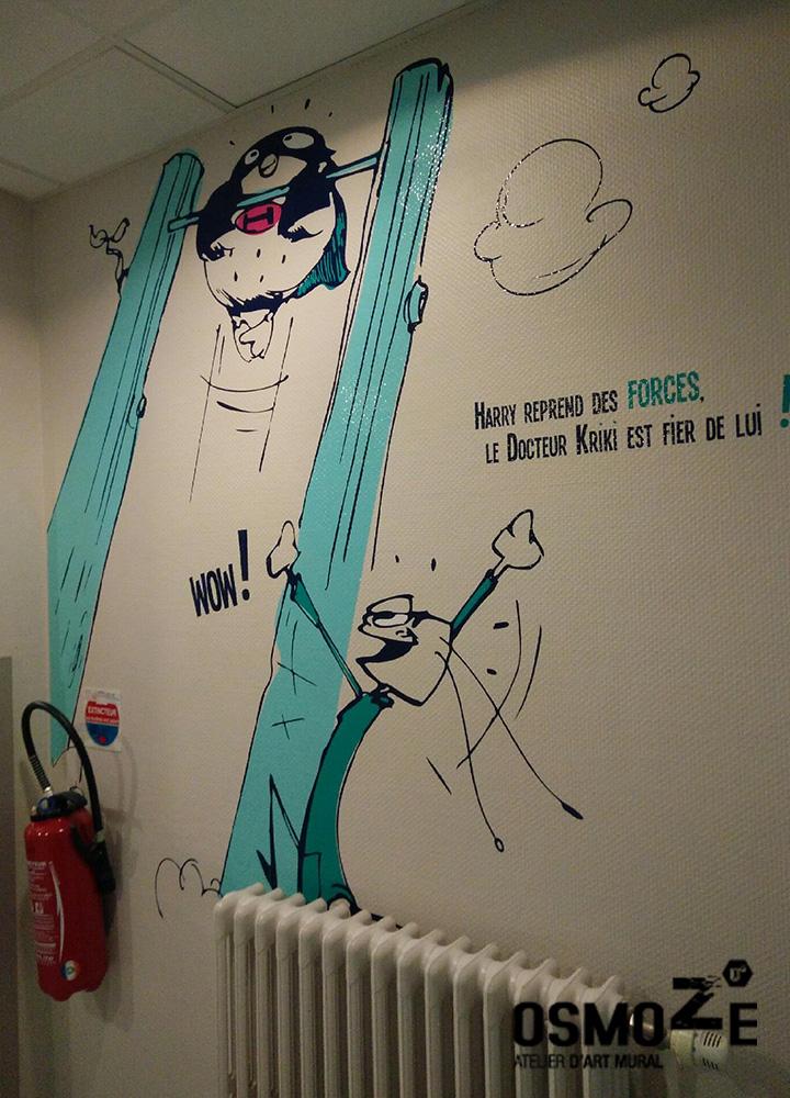 Décoration bande dessinée > Super Heros > Centre Paul Dottin > Hôpital enfants > Toulouse > Sport.