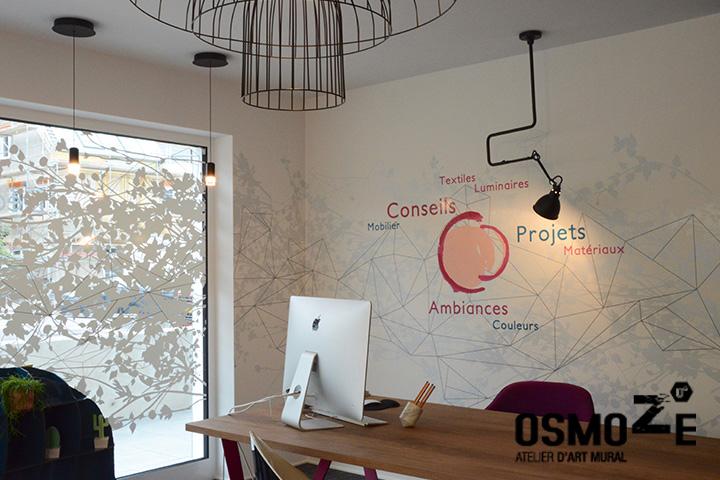 Décoration murale > Fresque > Bureaux Agence Luxembourg