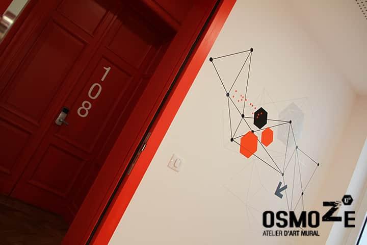 Décoration murale historique et design > Signalétique > CROUS Strasbourg > Résidence étudiante