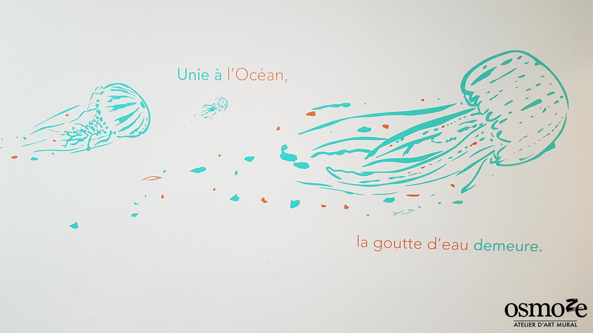 IME FONTLAURE> Décoration murale> Fresque couloir