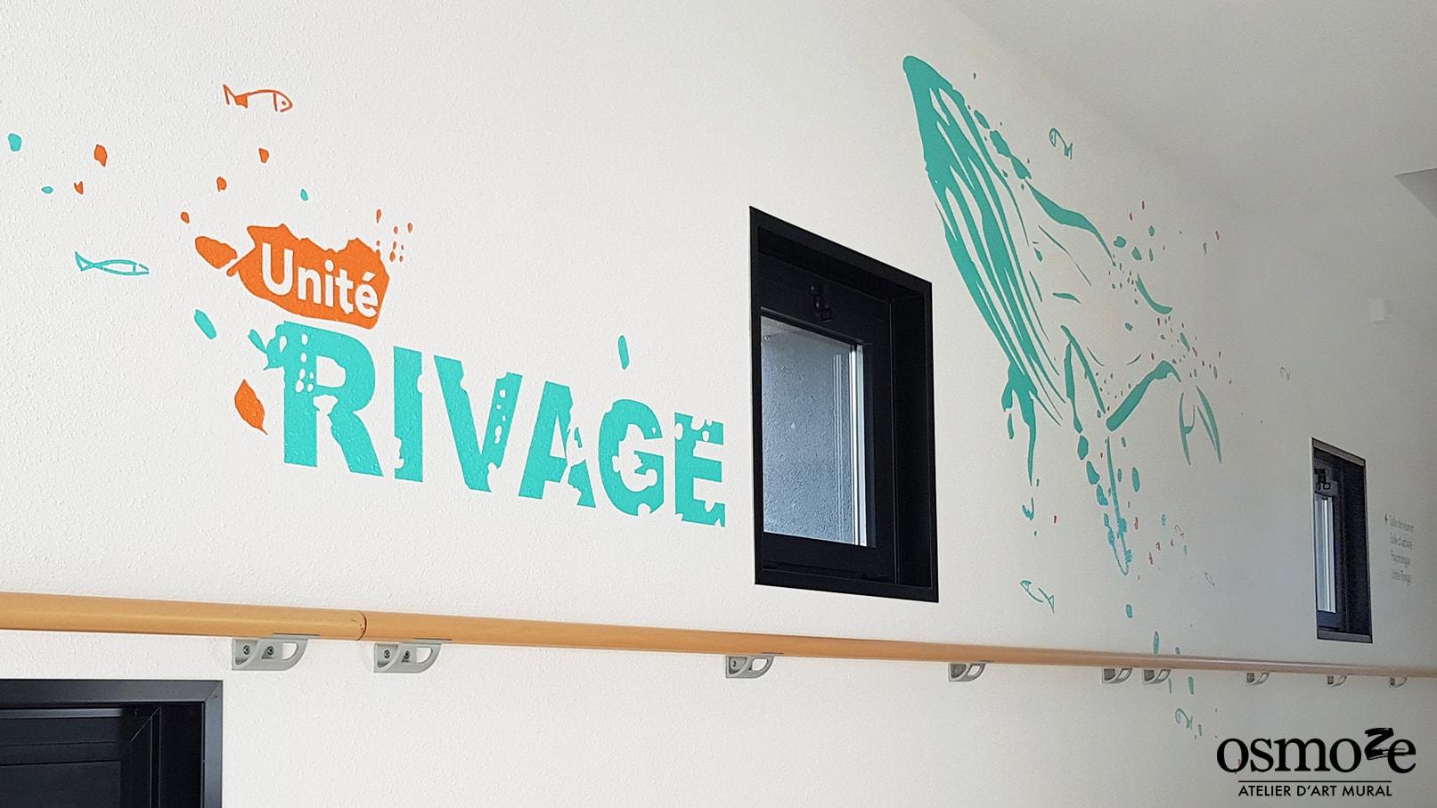IME FONTLAURE> Signalétique murale> Fresque couloir