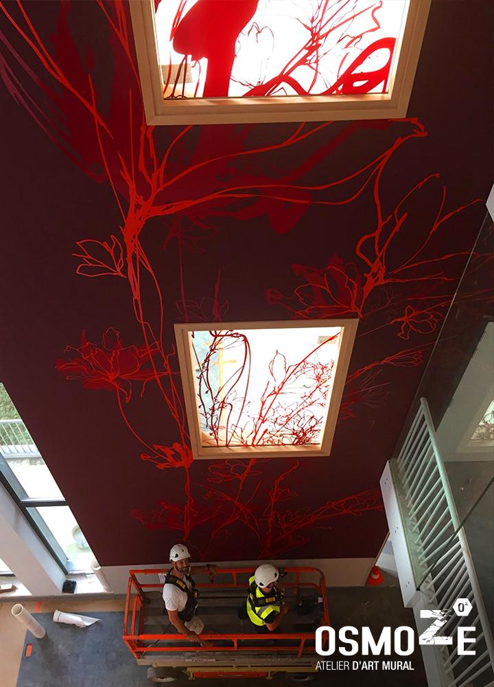 Décoration murale monumentale>Bruxelles>Polyclinique CHU Brugmann>Nacelle