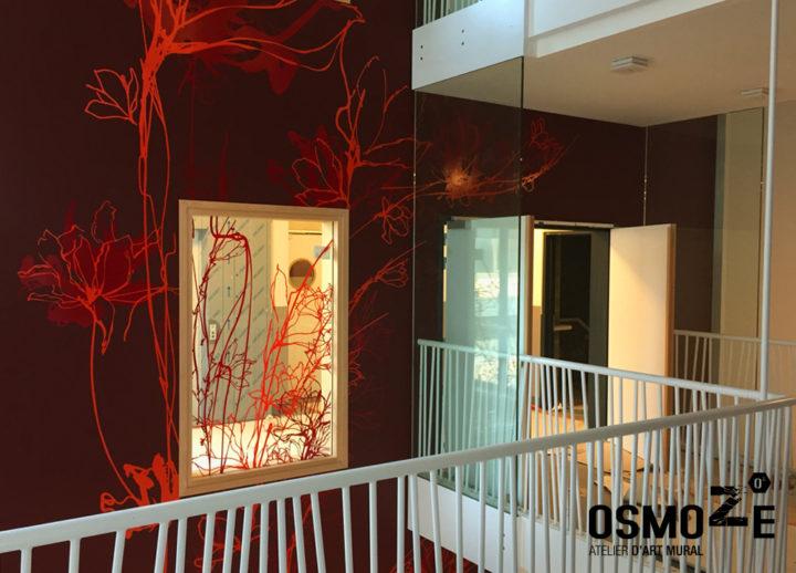 Décoration murale monumentale>Buxelles>Polyclinique CHU Brugmann>Magnolias