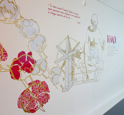Décoration murale Centre Hospitalier>CH Bretagne Sud>Décoration thème Inde