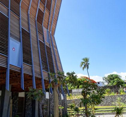 Décoration murale >Médiathèque Saint-Joseph>Ile de la Réunion>Bâtiment contemporain