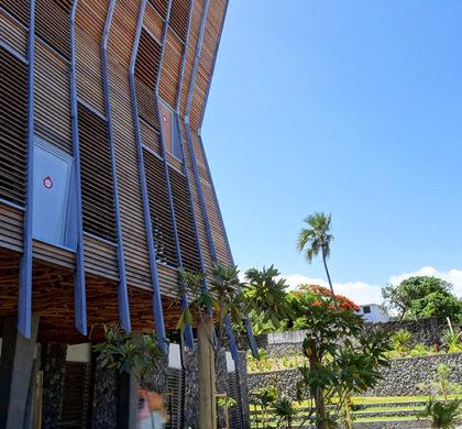 Décoration murale et signalétique contemporaine>Médiathèque Saint-Joseph>Ile de la Réunion>Bâtiment principal