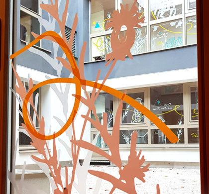 Décoration murale Foyer Hébergement>Foyer Sud Isère>Vitrophanie