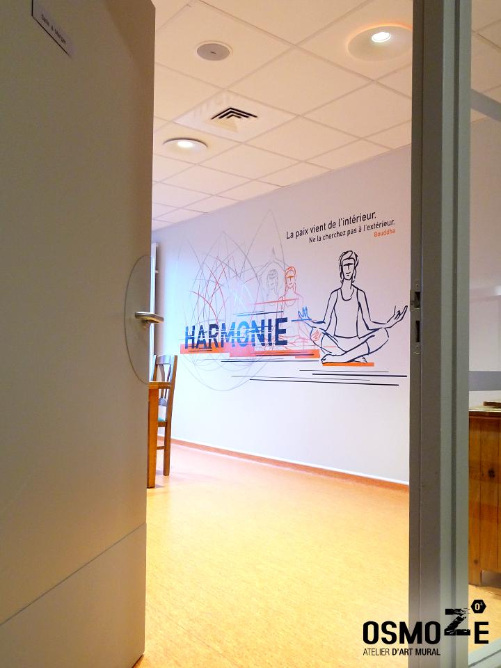 Décoration murale et signalétique artistique > Décoration murale Centre Hospitalier>CH Le Quesnoy