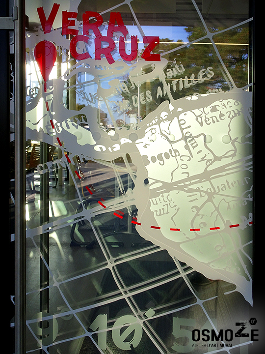 Décoration murale et signalétique artistique > Signalétique décorative > Décoration murale design>Crous Bordeaux>Vitrophanie