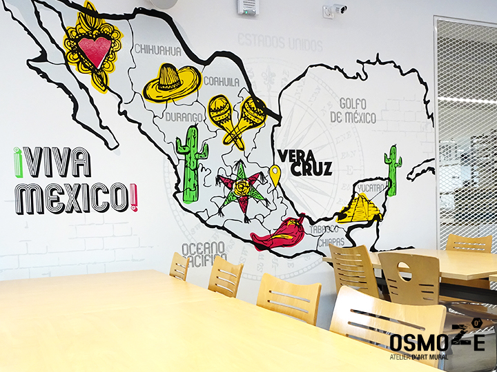 Décoration murale design>Restaurant Crous Bordeaux>Veracruz>Mexique