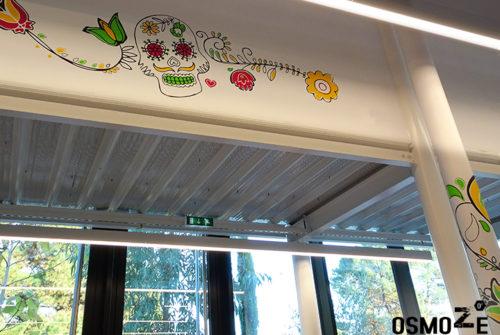 Décoration murale et signalétique artistique > Décoration murale tendance>Restaurant Crous Bordeaux>Veracruz>Crâne