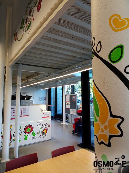 Décoration murale tendance>Restaurant Crous Bordeaux>Veracruz>Fresque