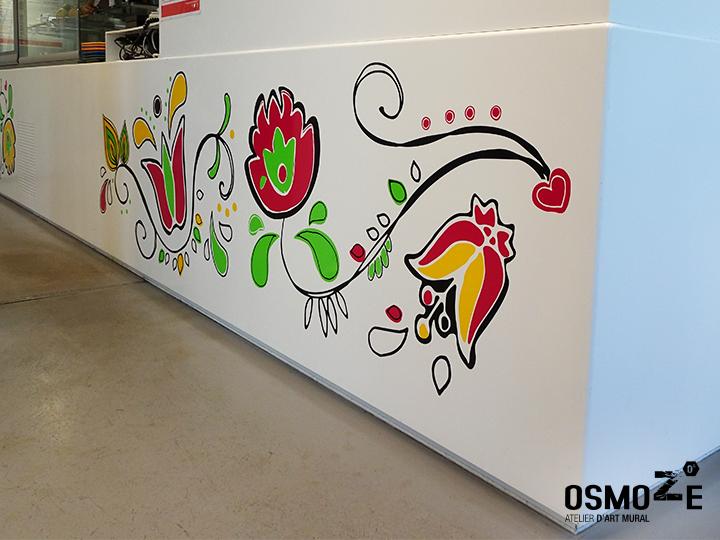 Décoration murale tendance>Restaurant Crous Bordeaux>Veracruz>Fresque florale