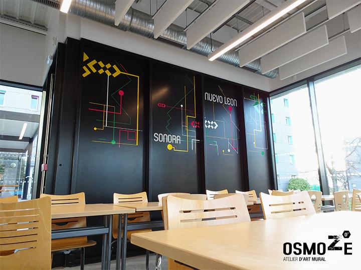 Décoration murale design>Restaurant Crous Bordeaux>Veracruz>Décoration graphique