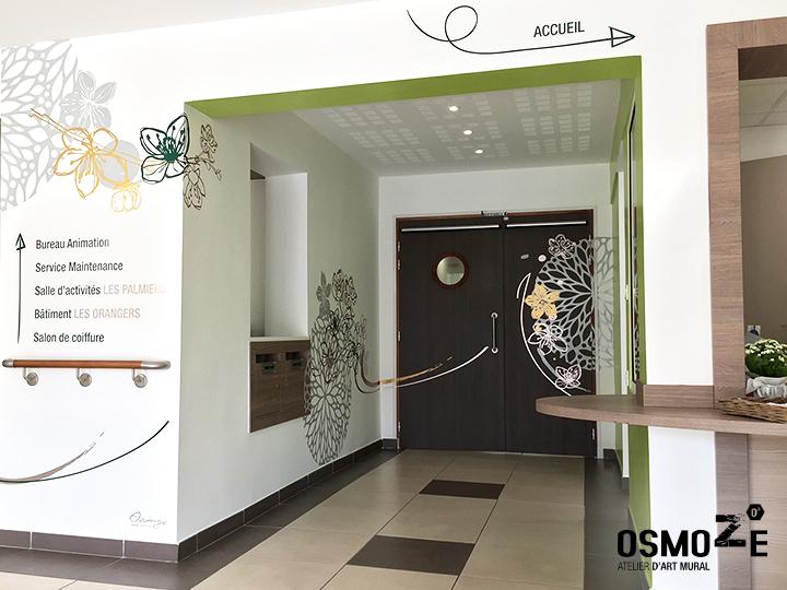 Décoration et Signalétique Murale Contemporaine > Végétale > Ehpad Le Verger > Accueil