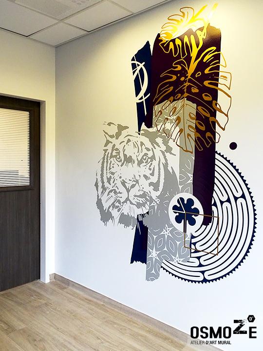 Décoration murale et signalétique artistique > Signalétique décorative > Décoration murale > centre de dialyse> Calydial