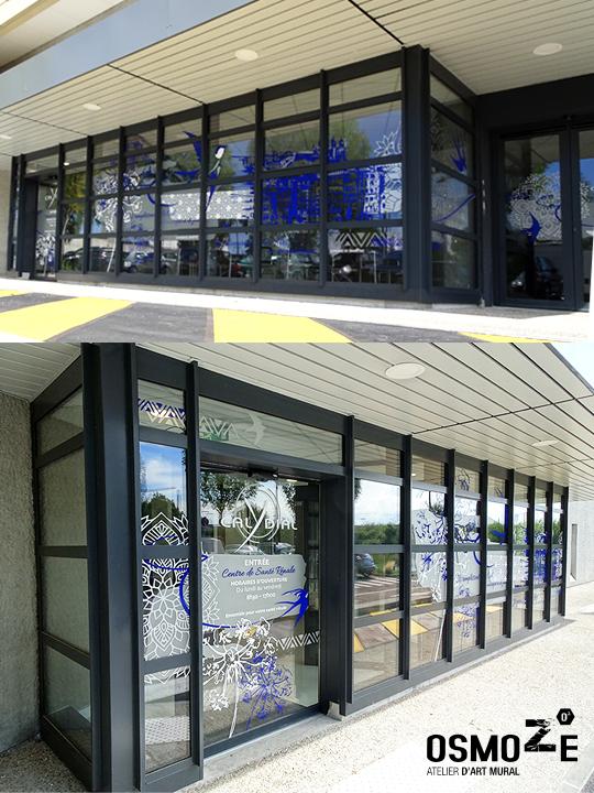 Décoration murale > centre de dialyse> Calydial> sas entrée