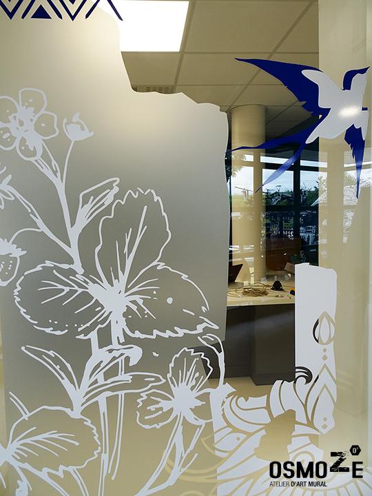 Décoration murale > centre de dialyse> Calydial> vitrophanie