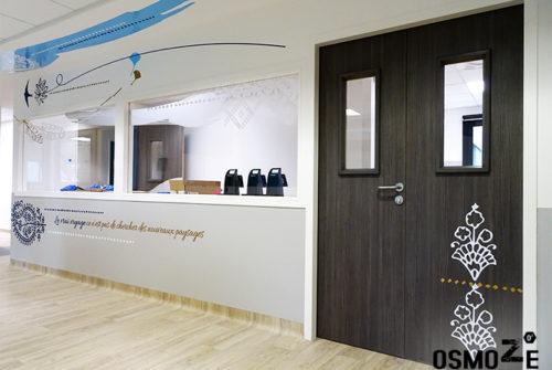 Décoration murale et signalétique artistique > Décoration murale > centre de dialyse> Calydial