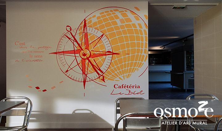 Décoration murale et signalétique artistique > Décoration et signalétique murale design>Restaurant Crous Nice>Le Béal>Cafétéria