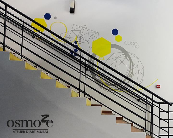 Décoration et signalétique murale design>Restaurant Crous Nice>Hélios>Escaliers