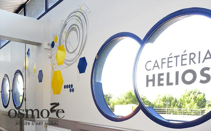 Décoration murale et signalétique artistique > Décoration et signalétique murale design>Restaurant Crous Nice>Hélios>Cafétéria