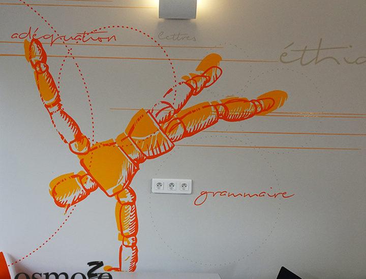 Décoration murale et signalétique artistique > Décoration et signalétique murale design>Restaurant Crous Nice>Lash>Cafétéria