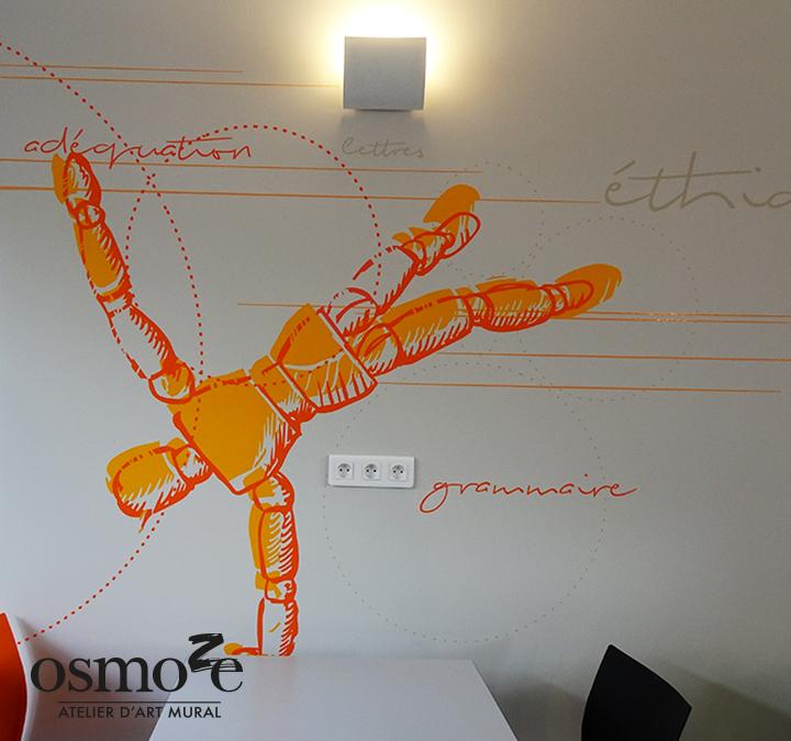 Décoration et signalétique murale design>Restaurant Crous Nice>Lash>Cafétéria