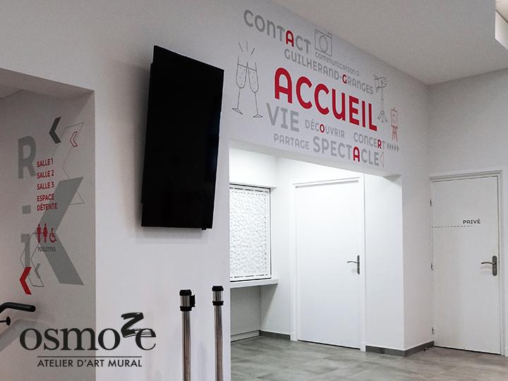 Décoration et signalétique murale design> Agora Guilherand Granges > Accueil