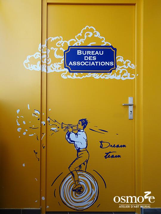 Décoration et Signalétique Murale Contemporaine > Vintage > IUT Sénart > Couloir