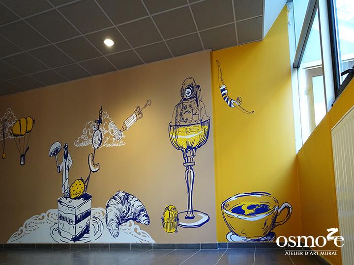 Décoration et Signalétique Murale Contemporaine > Vintage > IUT Sénart > Salle polyvalente
