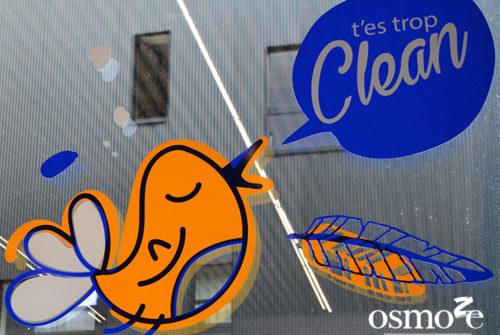 Décoration murale et signalétique artistique > Décoration et signalétique murale design> Crous Versailles Orsay > Résidence Eileen Gray > Buanderie
